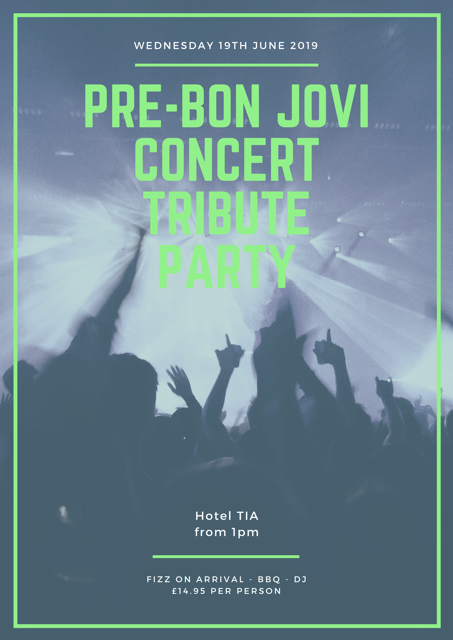 Tribute Party Bon Jovi Concert banner image