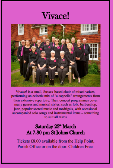 Vivace! Choir at St John the Evangelist Church event tickets from