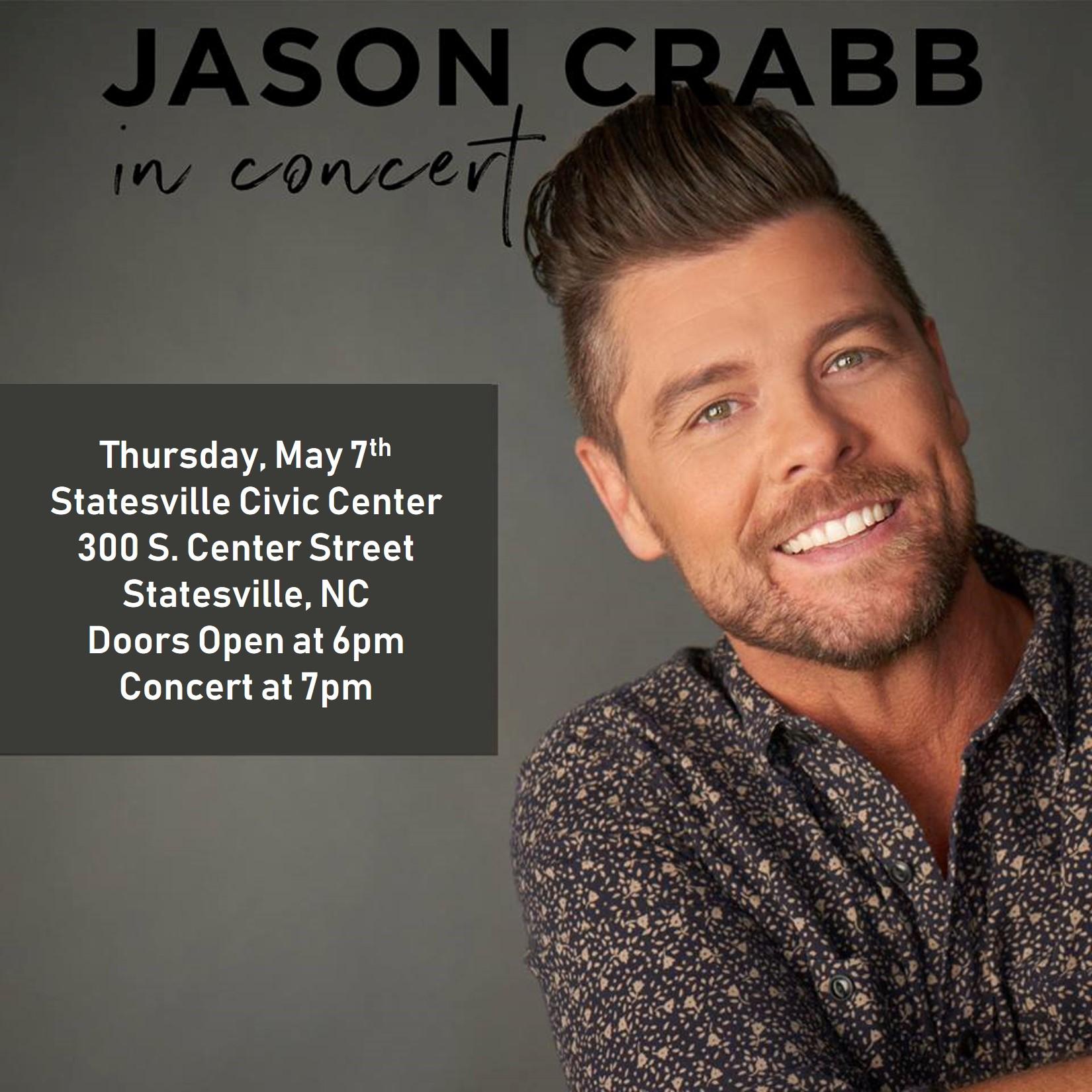 Jason Crabb at Statesville Civic Center banner image