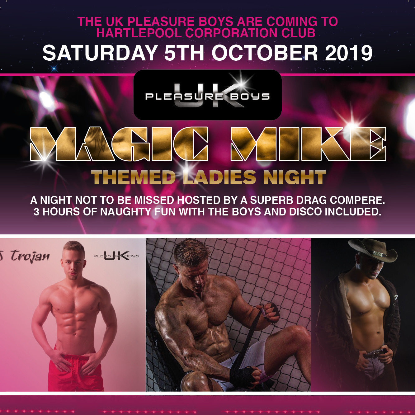Magic Mike Themed Ladies Night banner image