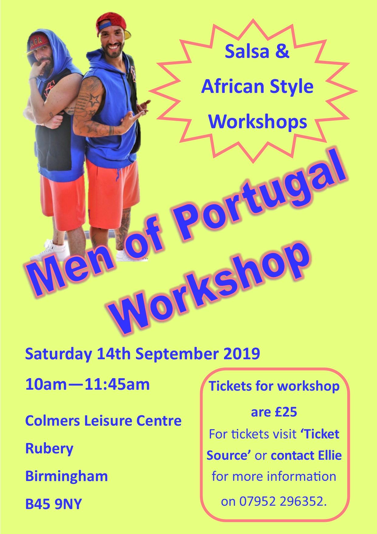 Men of Portugal Workshop - Birmingham banner image