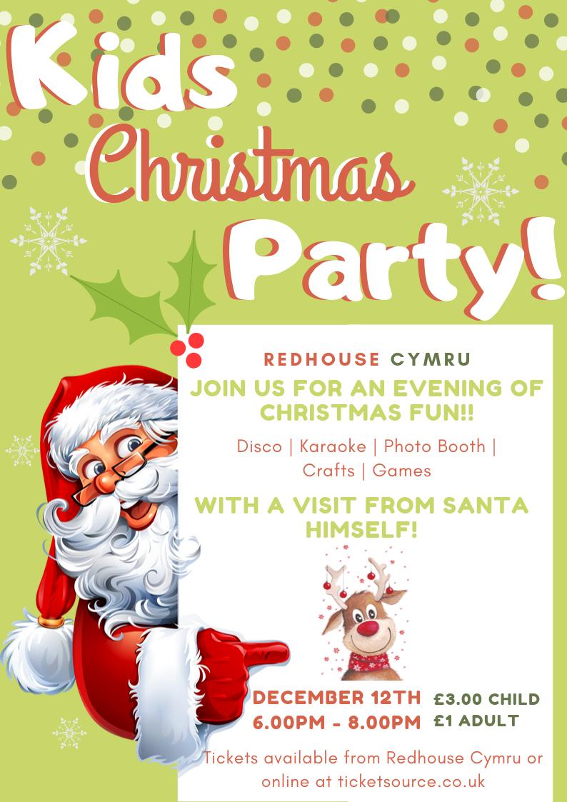 Karaoke Christmas Party.Kids Christmas Party At Redhouse Cymru