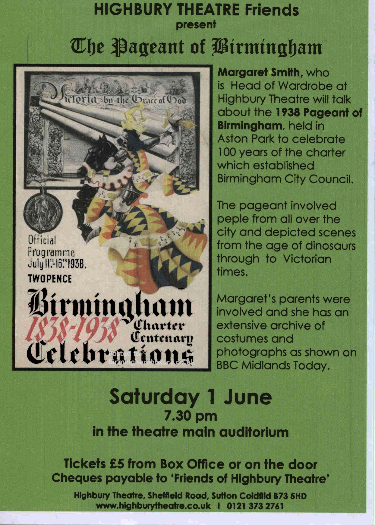 The Pageant of Birmingham banner image