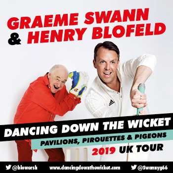 Graeme Swann & Henry Blofeld – Dancing Down The Wicket banner image