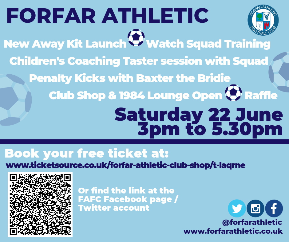 Forfar Athletic New 'Second' Kit Launch 2019 at Forfar