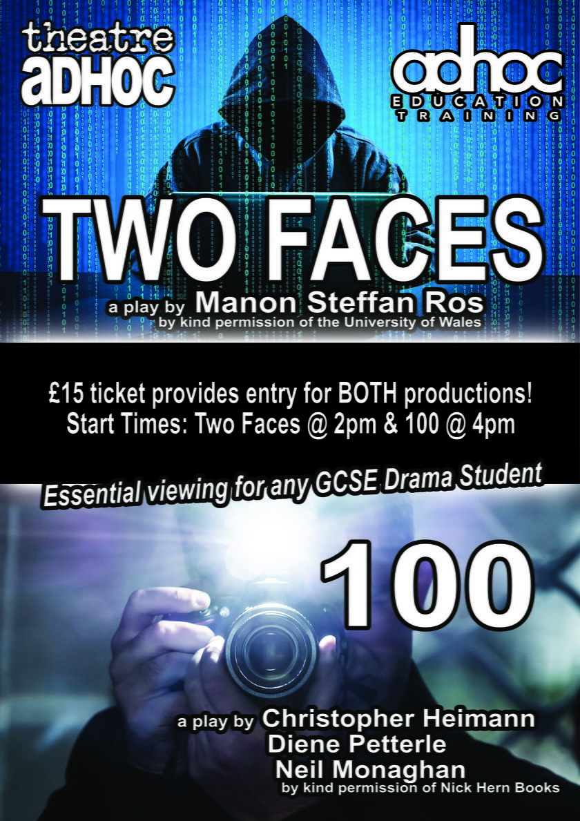 GCSE Set Texts - TWO FACES and 100 banner image