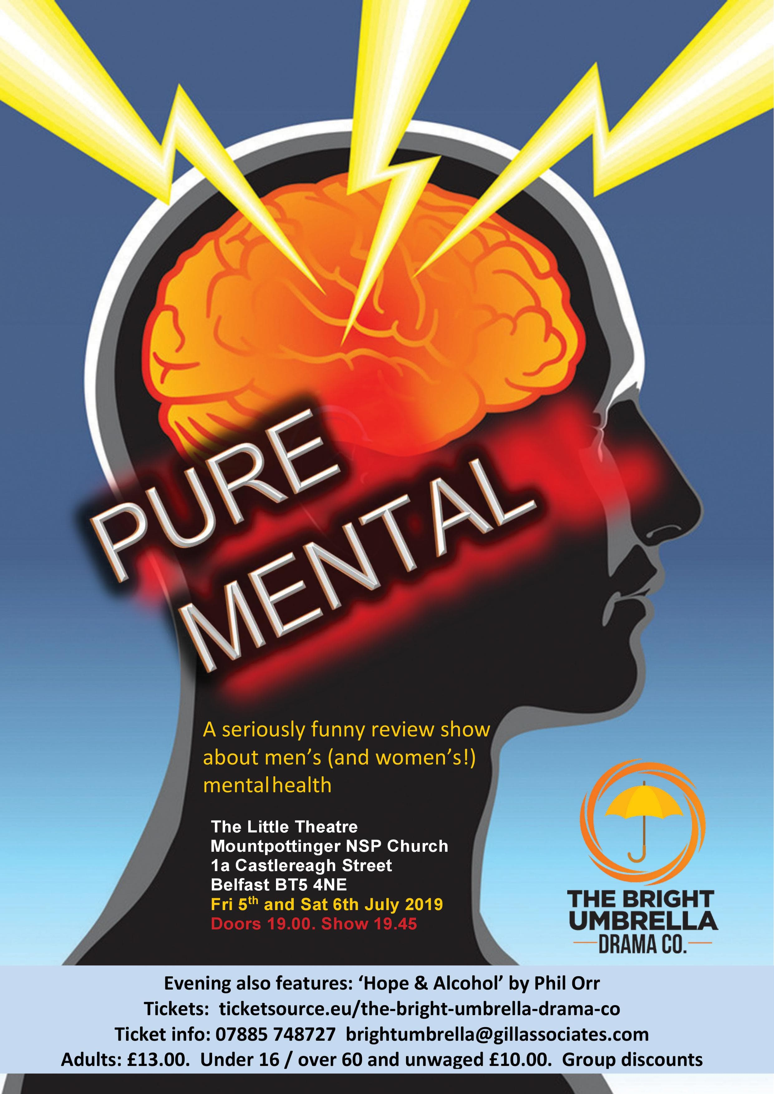 'Hope & Alcohol' and 'Pure Mental' banner image