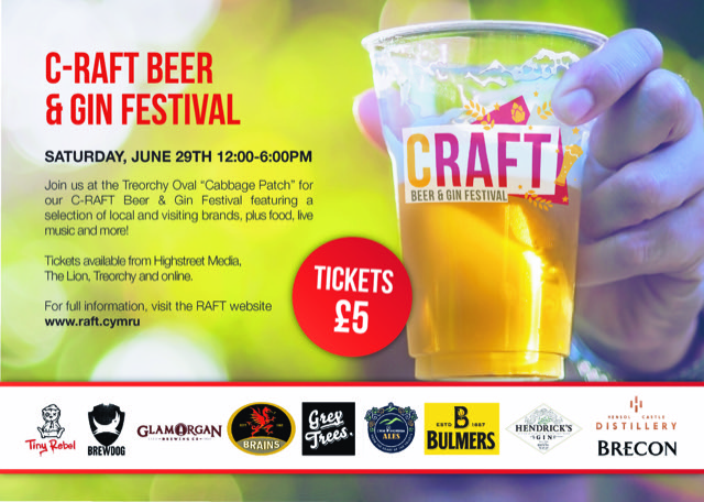 RAFT Craft Beer and Gin Festival banner image