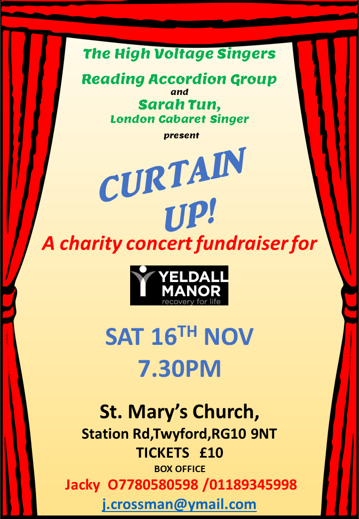 Curtain Up!  Charity Concert for Yeldall Manor. banner image