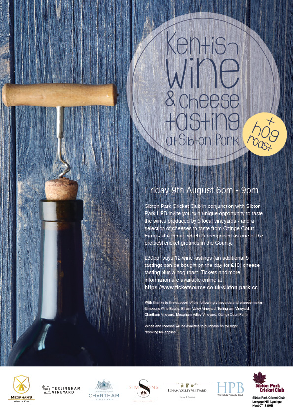 Sibton Park Wine and Cheese Tasting - with Hog Roast banner image
