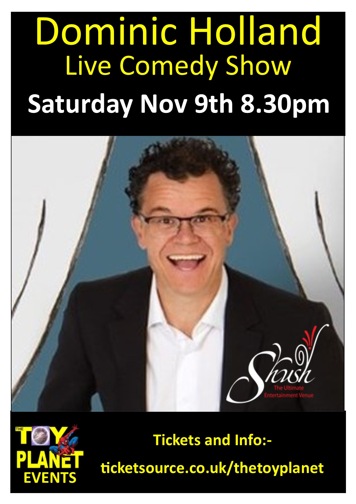 Dominic Holland Live Comedy Show banner image