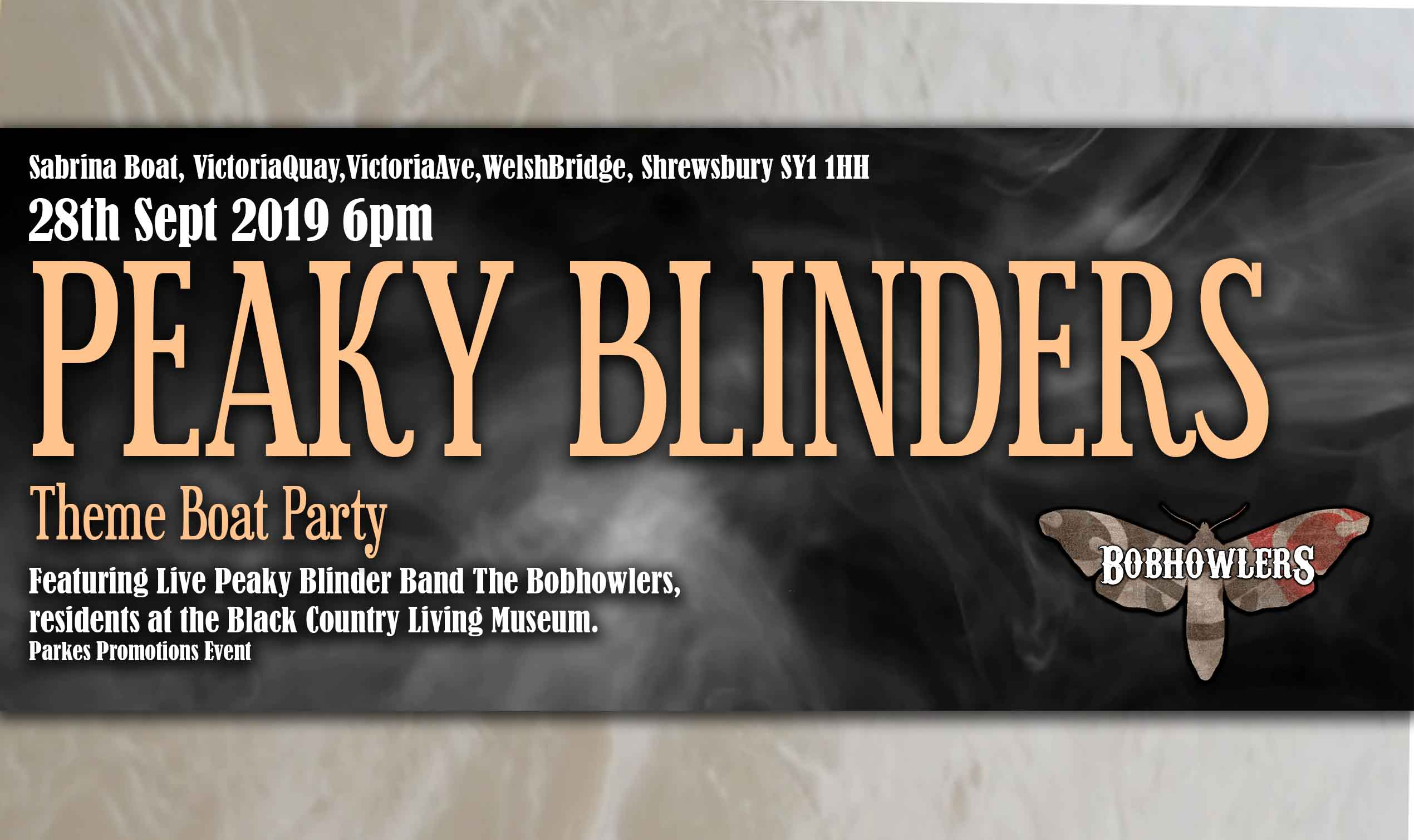 Peaky Blinders Theme Boat Party banner image